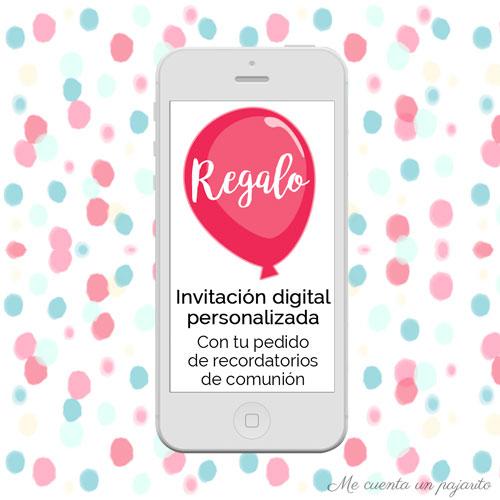 REGALO invitación digital con los recordatorios de Primera Comunión