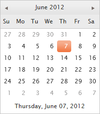 Calendar Widget with Value Configuration