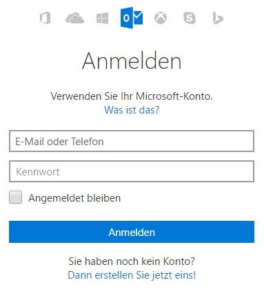 Auch über outlook.com kann eine zusätzliche Mail-Adresse eingerichtet werden.