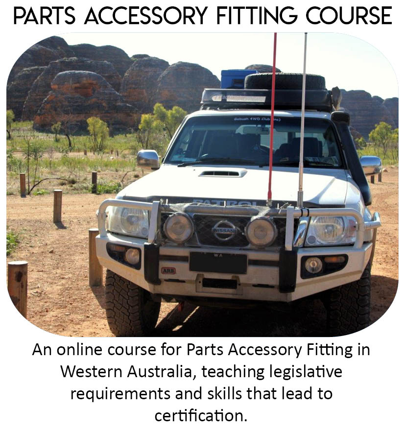 Parts Accessory Fitting Course