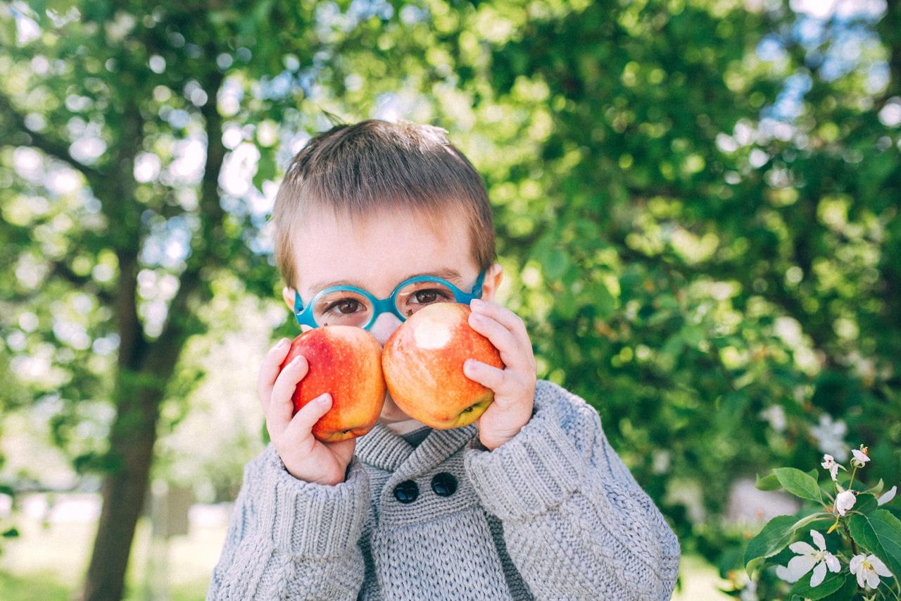 Фотосессия с яблочками - семейная фотосессия в яблонях Северодвинск свадебный фотограф Архангельска