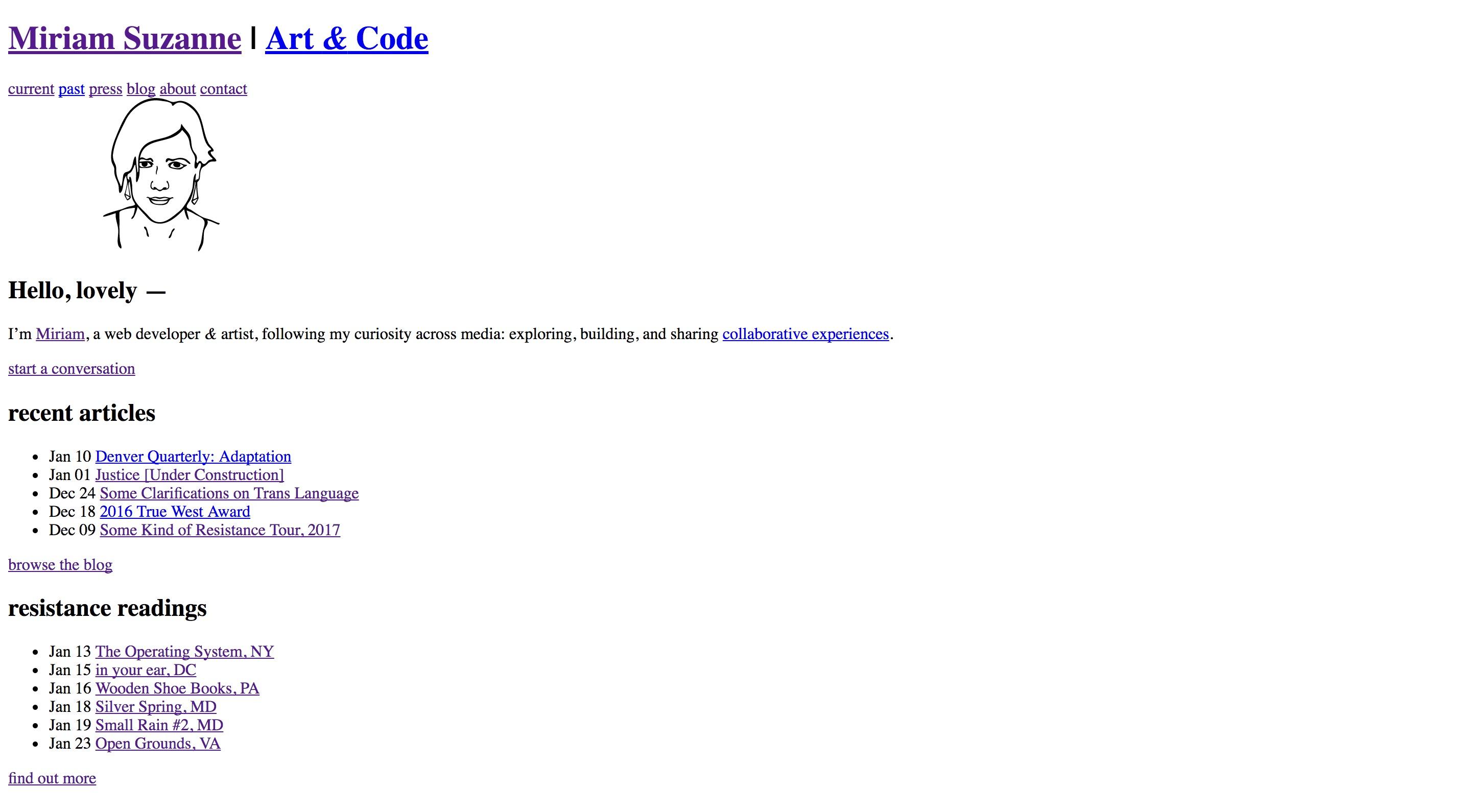 Mia HTML-Only