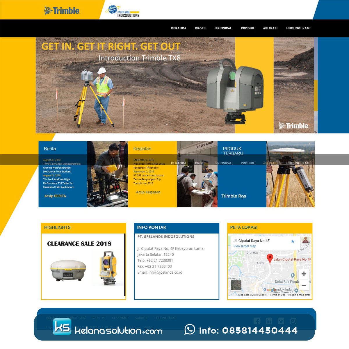 GPS Lands Distributor Resmi GPS Trimble Indonesia