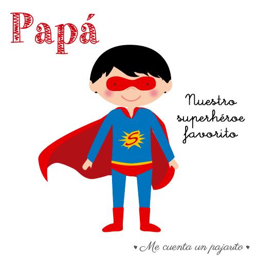 feliz día del padre, papá, superhéroe, héroe