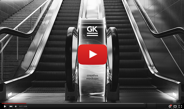 3D Animated Escalator / Lightbox Mockup