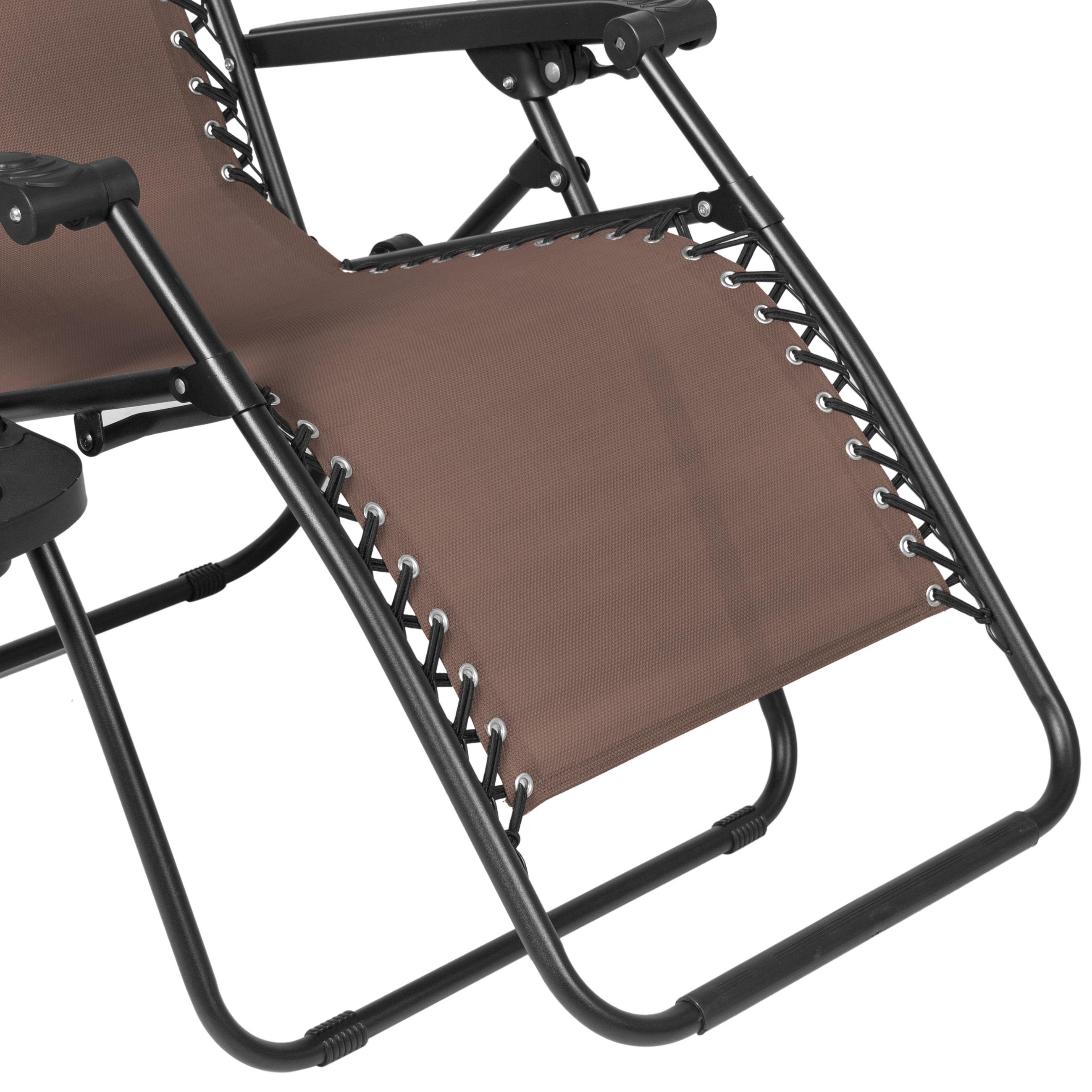 Bcp Folding Zero Gravity Recliner Lounge Chair W Canopy