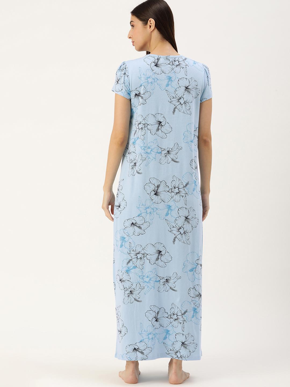 Slumber Jill Blue floral Nighty-FS-094XXL