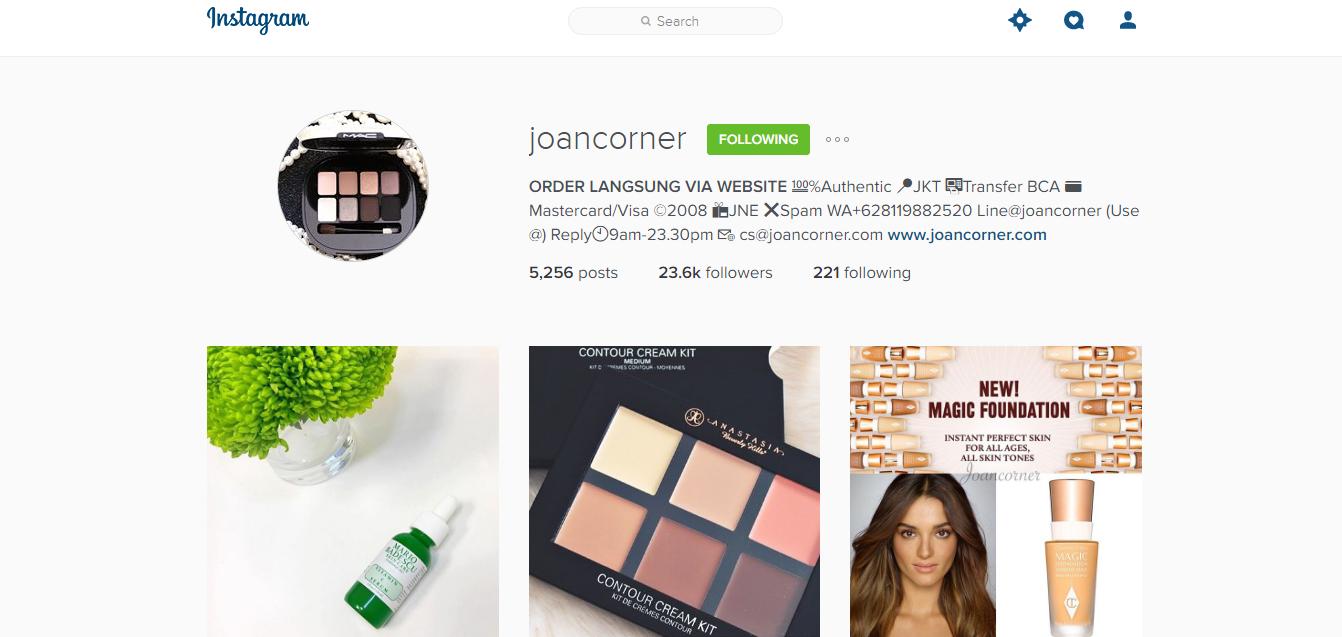 Instagram Joancorner