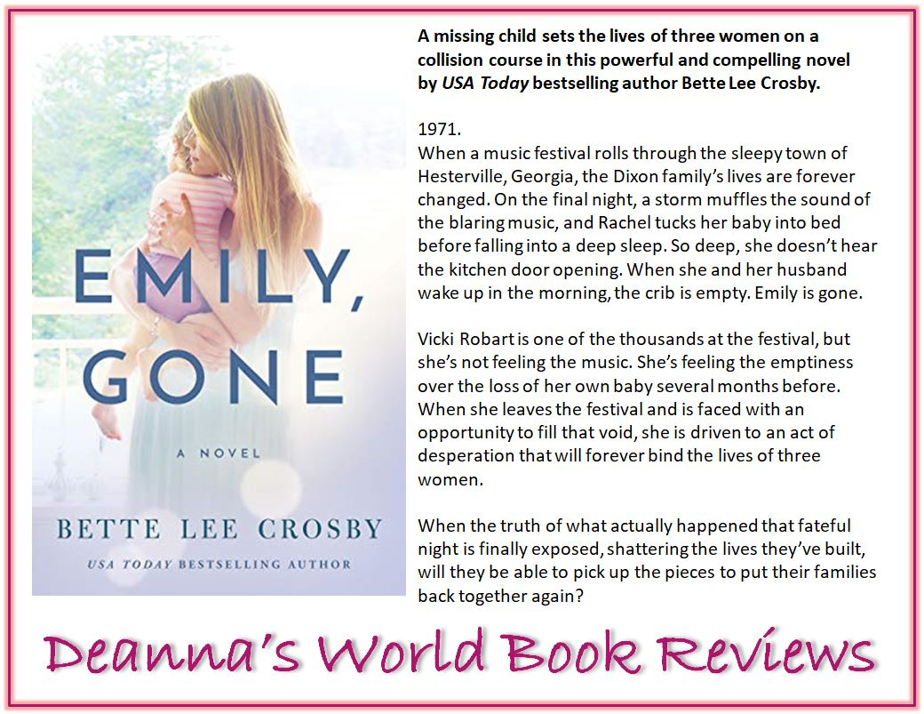 Emily Gone by Bette Lee Crosby blurb