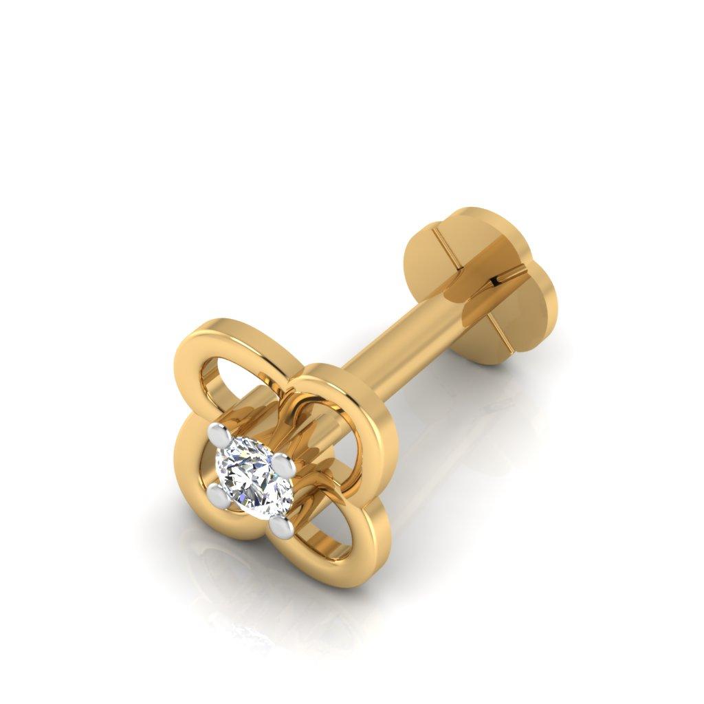 The Durable Diamond Solitaire Nose Screw