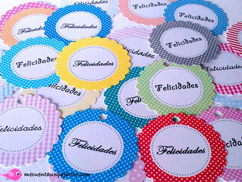 Etiquetas personalizadas de felicidades