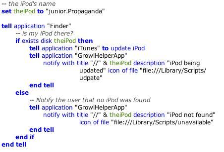 iPod Script