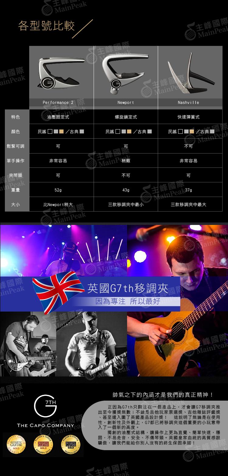 英國 G7TH Performance II 2 Capo 二代 移調夾 電吉他民謠吉他專用 油壓式結構 終生保固公司貨
