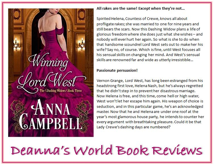 Winning Lord West by Anna Campbell blurb