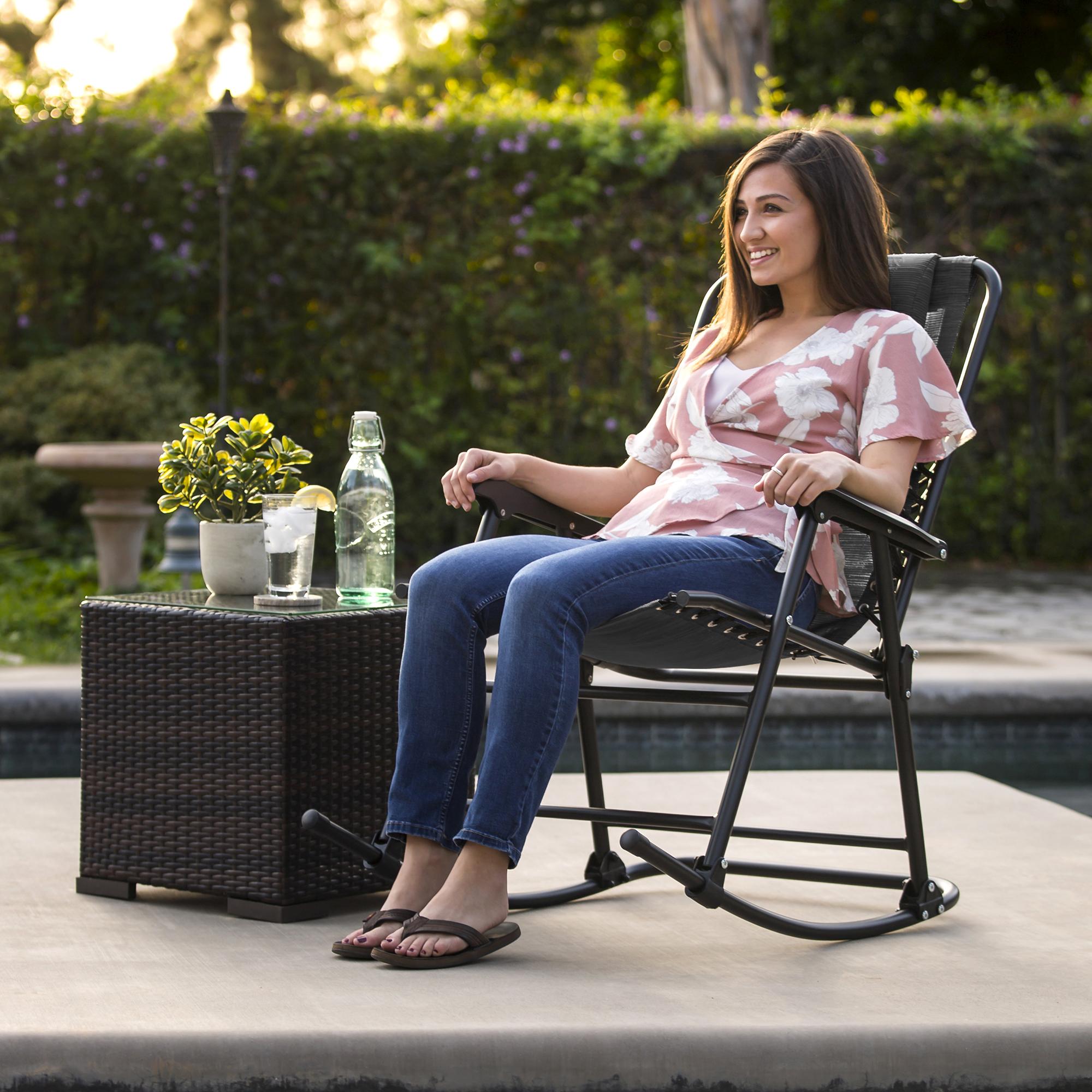 BCP-Foldable-Zero-Gravity-Patio-Rocking-Lounge-Chair thumbnail 16