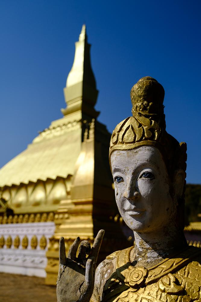 Onze allereerste stupa