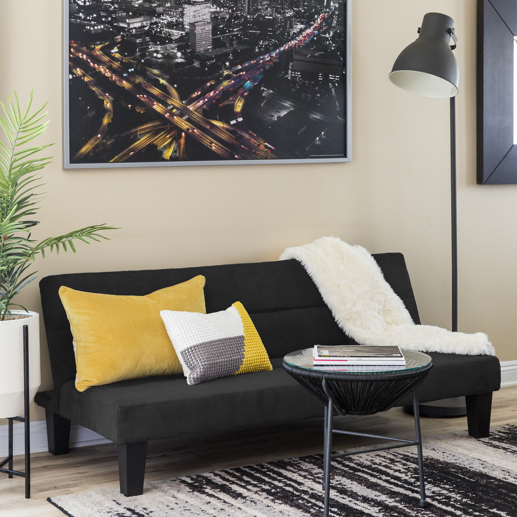 BCP Microfiber Folding Futon Sofa Bed w// 6in Thick Padding