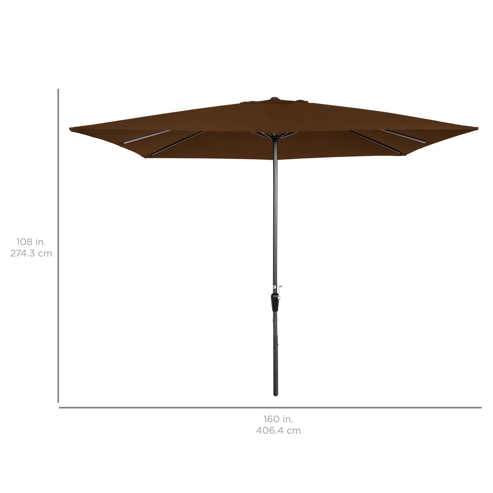 BCP-8x11ft-Rectangular-Patio-Umbrella-w-Easy-Crank-UV-Resistant-Fabric thumbnail 14