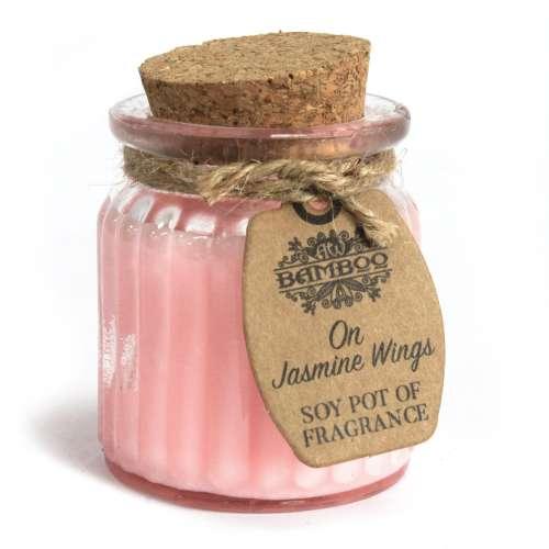 2x soy wax candle pot - jasmine