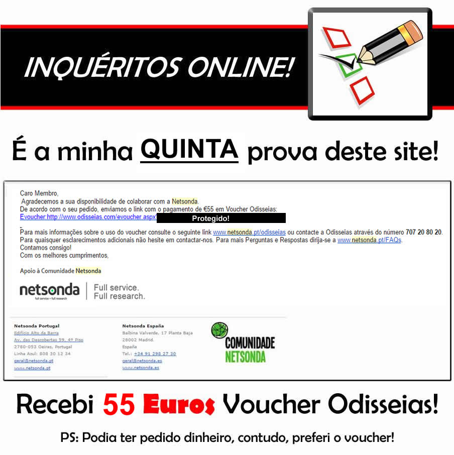 Oportunidade [Provado] Netsonda = Inquéritos online em troca de Dinheiro ou Prémios!   - Última prova de 40 euros! - Página 17 Netsonda%20quinta