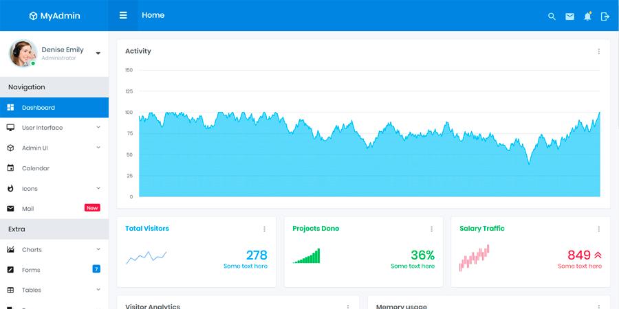 MyAdmin – Bootstrap Dashboard Template
