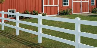 ranch vinyl fence Image