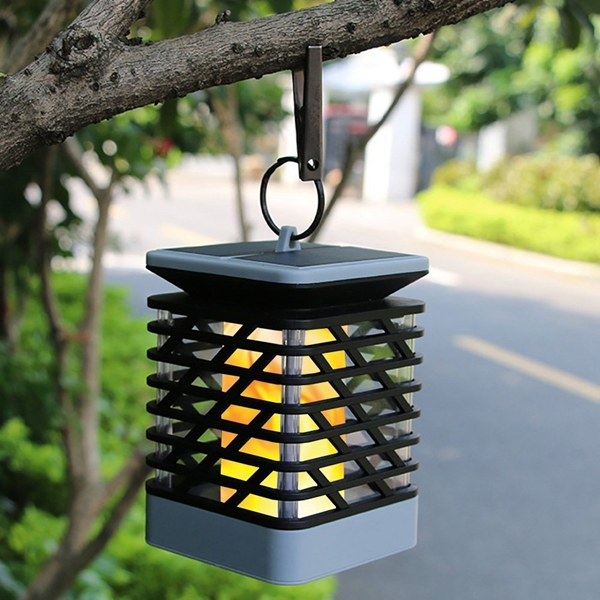 Outdoor String Lights South Africa: Solar Powered 75 LED Flame Effect Hanging