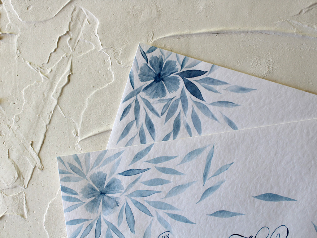 Flower painted envelope