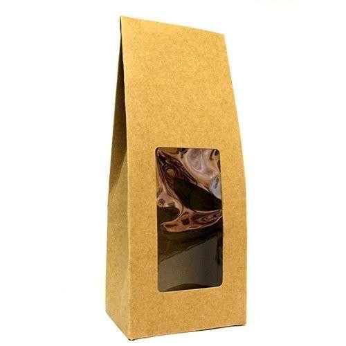 flat pack gift box - window tall