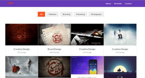 Sherin – Free Material Design Portfolio Template