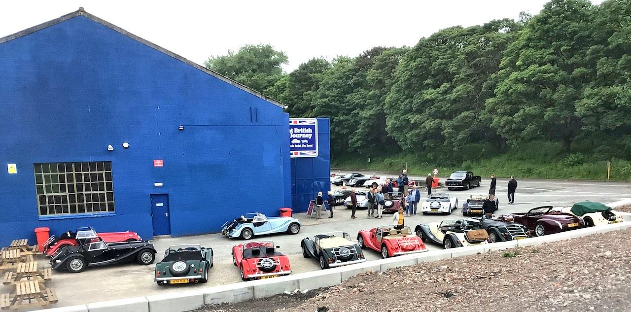 Morgan Club gathers at the Great British Car Journey
