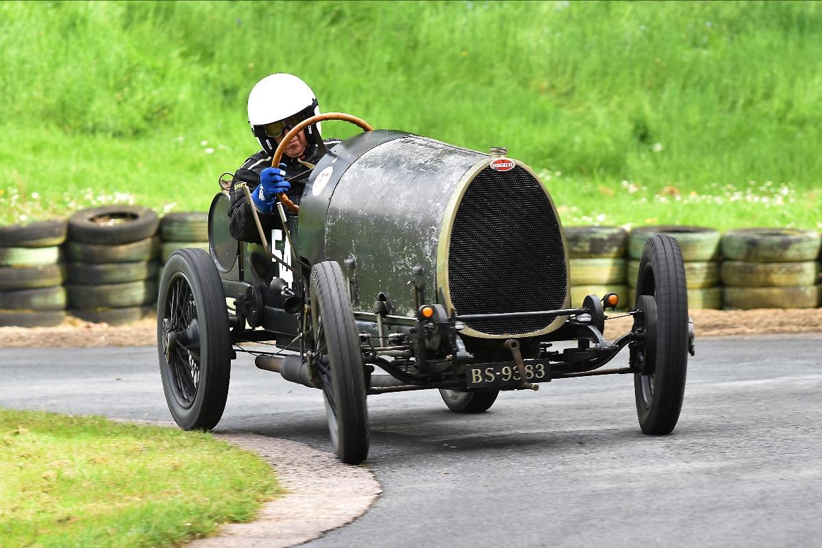 Bugatti Brescia display set for The London Classic Car Show