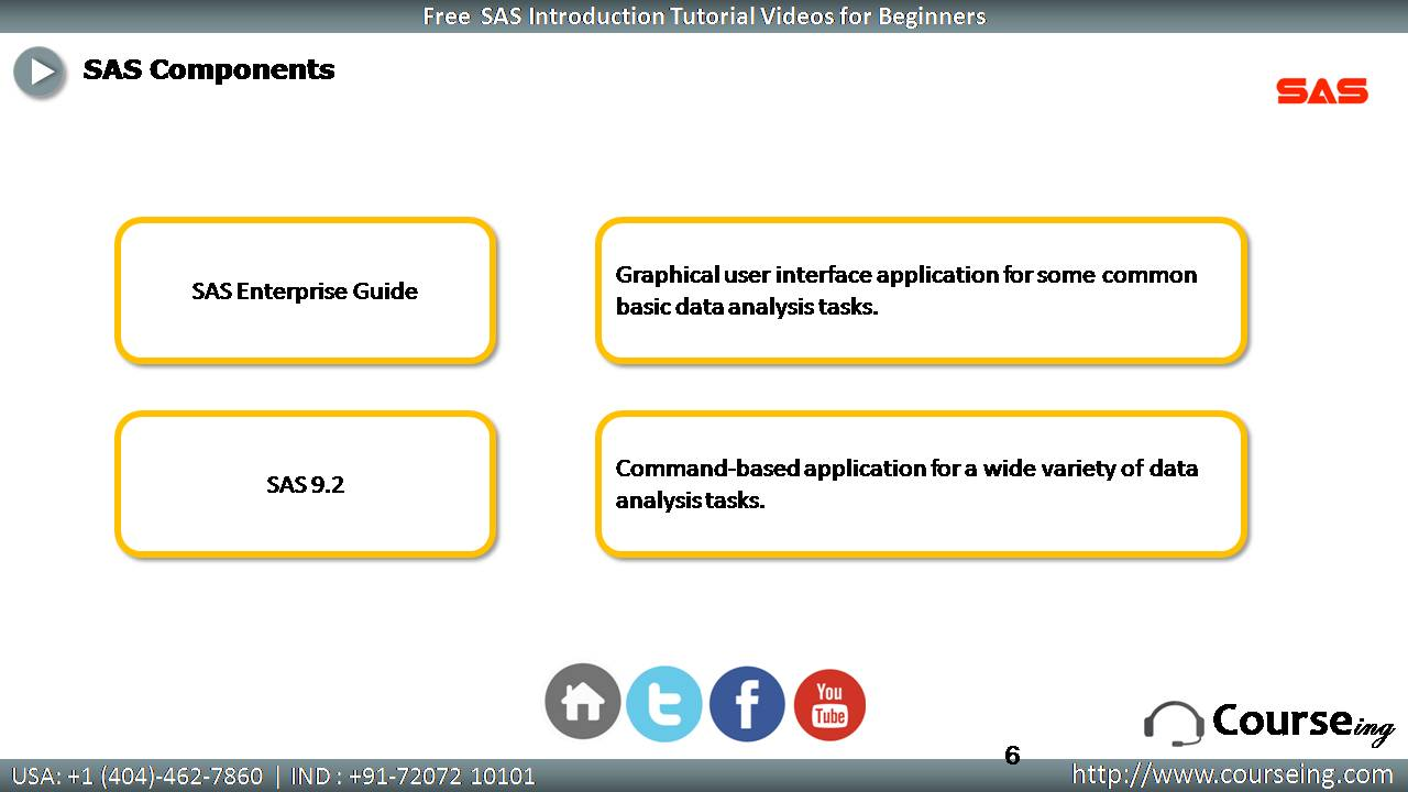 Components of SAS