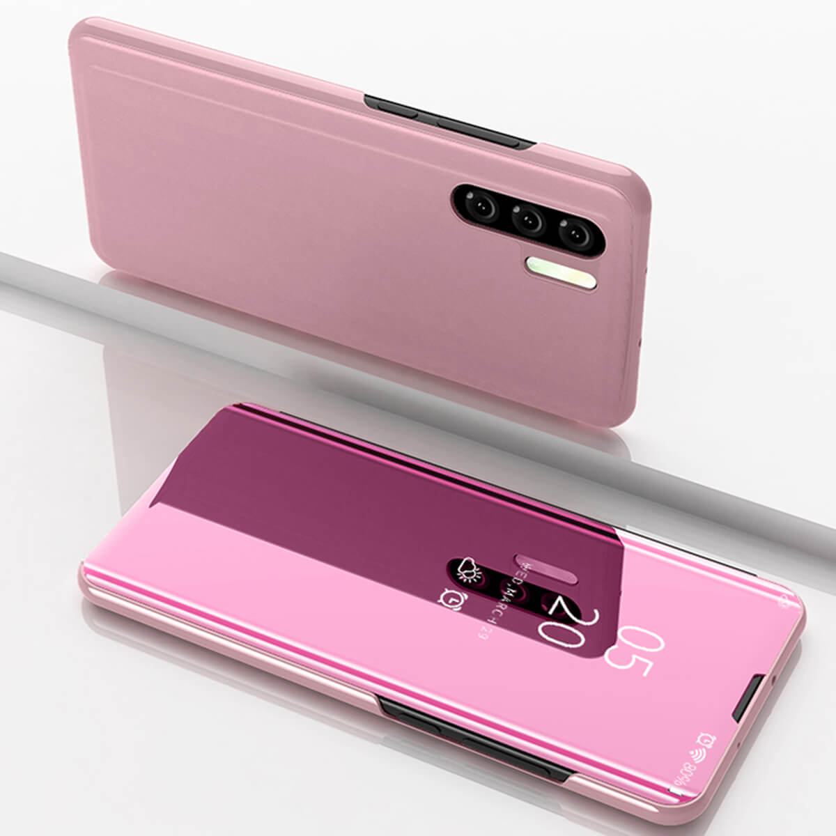 New-Huawei-P20-Lite-Mate-P30-Pro-Smart-View-Mirror-Leather-Flip-Stand-Case-Cover miniatura 36