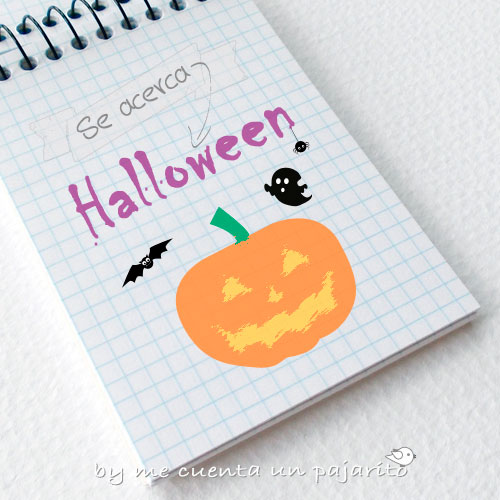 Se acerca Halloween, calabaza, murcielago, araña, boo, papelería