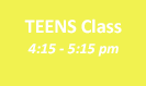 TEENSClass5pm