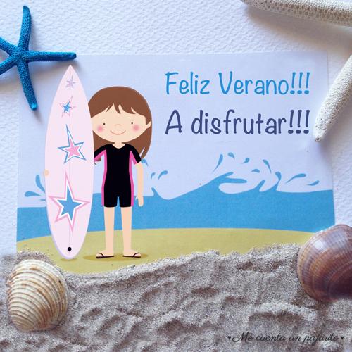 Feliz verano!!! A Disfrutar!!! Surfista, cumpleaños