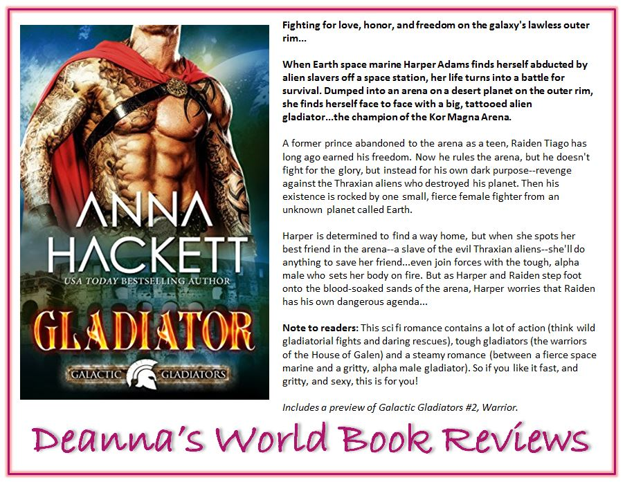 Gladiator by Anna Hackett blurb