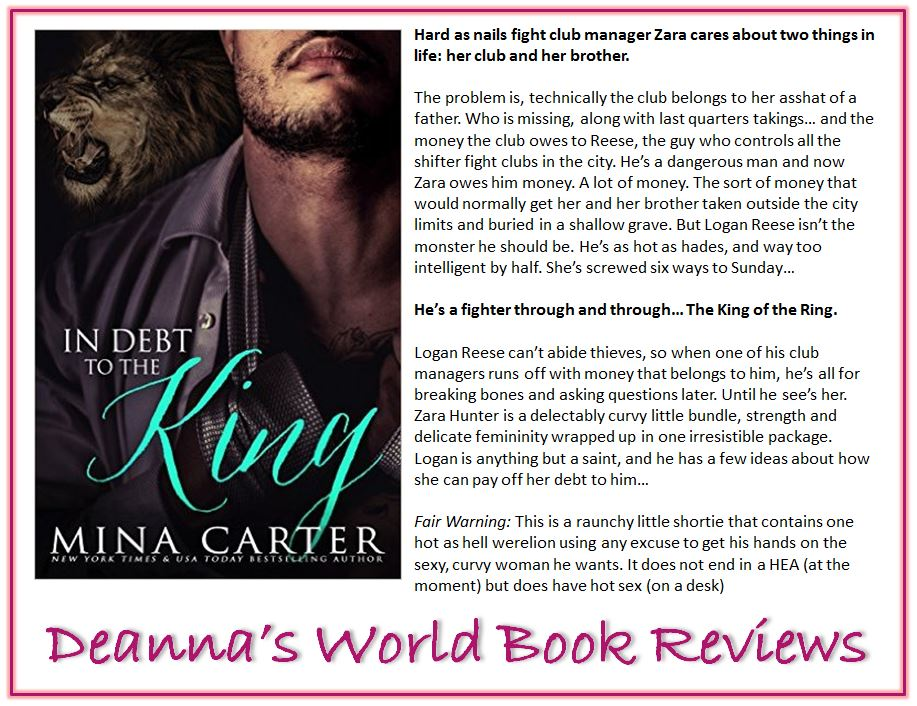 In Debt to the King by Mina Carter blurb