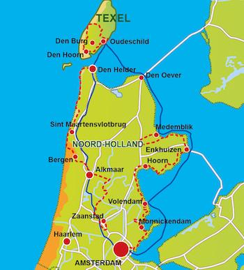 Radtour Niederlande: Nordroute
