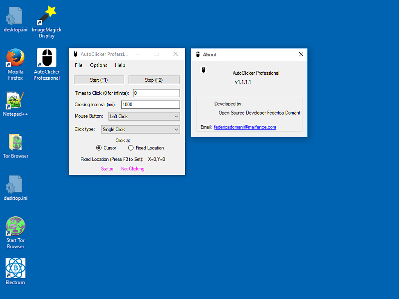 AutoClicker Professional for Windows PC 3.1.2.1 Screen shot