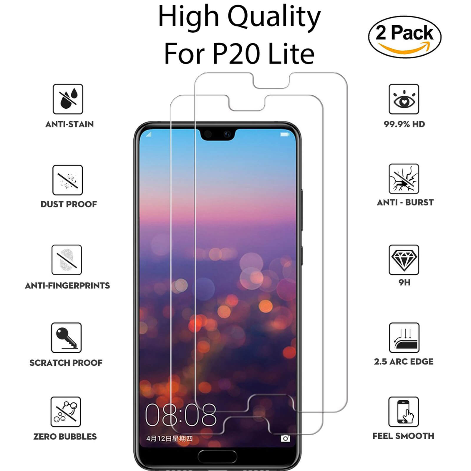 For-Huawei-Tempered-Glass-New-Full-Screen-Protector-Mate-20-P20-P30-Pro-Lite miniatura 96
