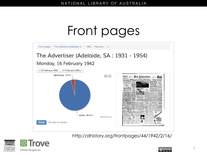 The Front Page - Adelaide Advertiser - After