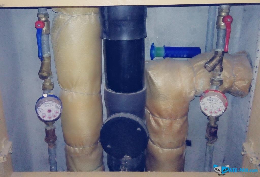 Сантехнические работы: установлены два шаровых крана на ввод в квартиру, теперь всё перекрывается хорошо!