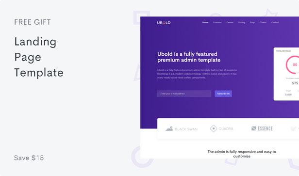 Ubold - Responsive Admin Dashboard & Web UI Kit Template - 5