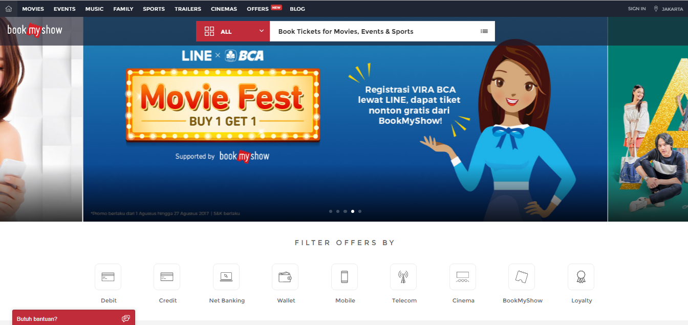 offers bookmyshow