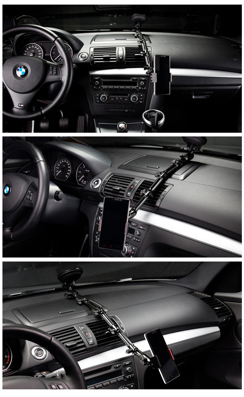 賓士、BMW、Audi、volvo,多種車款皆通用,吸盤式車用手機架
