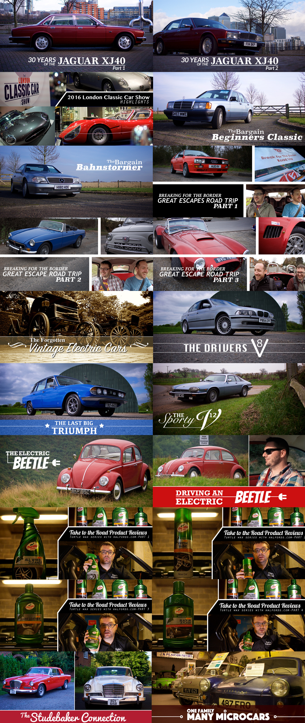 Take to the Road Classic Car Films in 2016