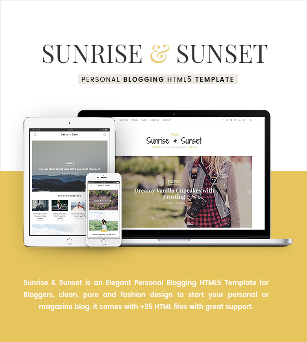 Sunrise & Sunset - Personal Blogging HTML5 Template