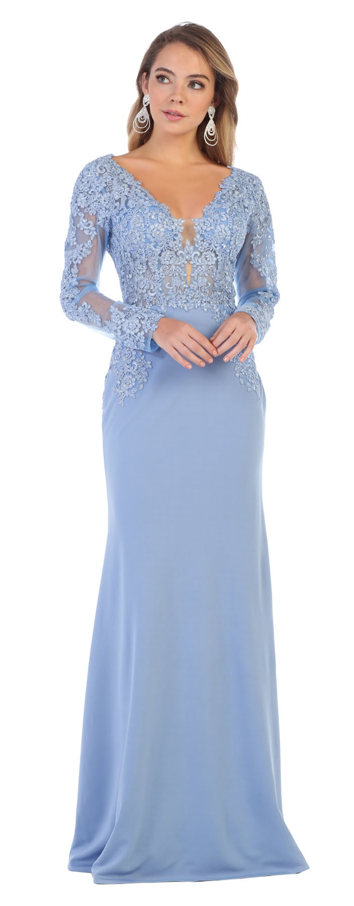 Designer LONG SLEEVE EMBROIDERED PROM SPECIAL OCCASION